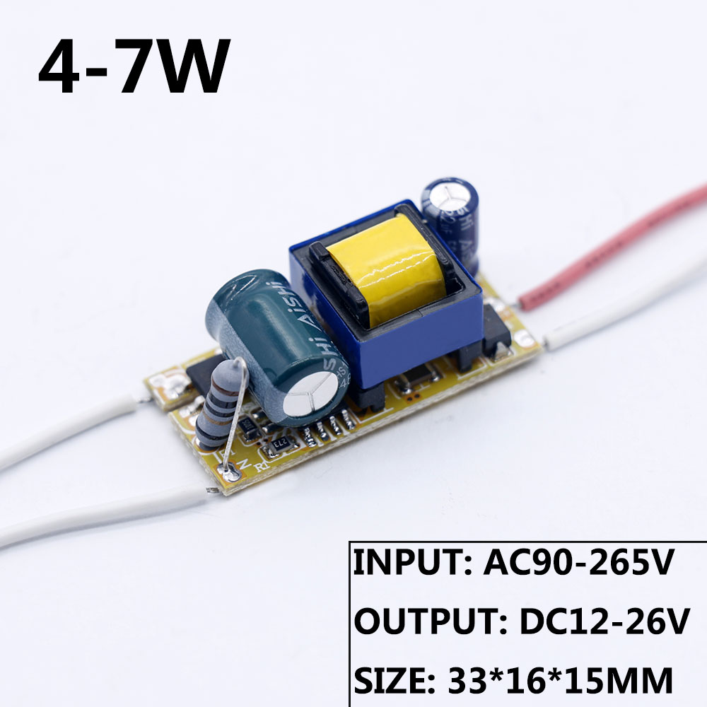 LED Driver 1W 3W 4WW 6W 9W 10W 13W 15W 16W 18W 300mA LED Power Supply Adapter 350mA 90-265V Lighting Transformers For LED image