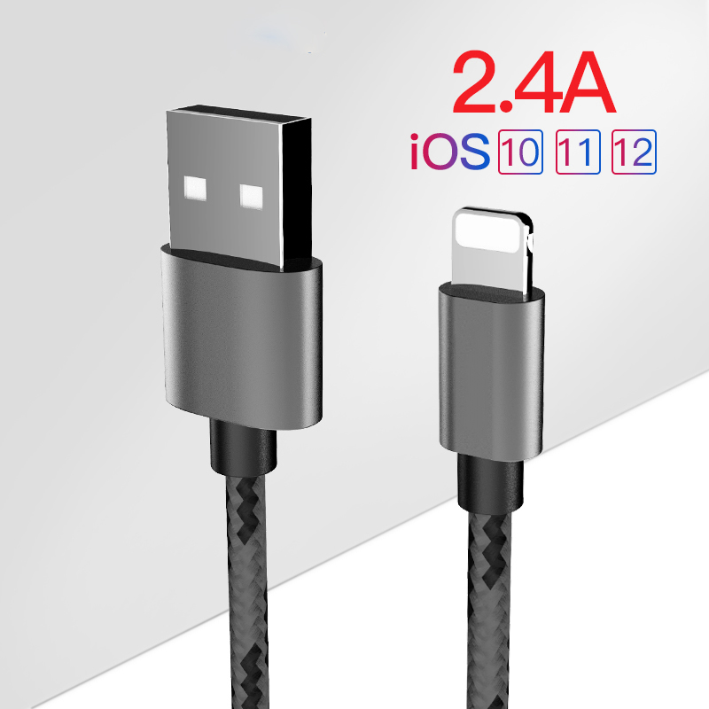 For Apple USB Charging Data <font><b>Cable</b></font> For iPhone X 7 6 8 6S 5S Plus XS MAX XR 11 For iPad Mini IOS 12 13 8 Pin Fast Charge <font><b>Cables</b></font> 1M image