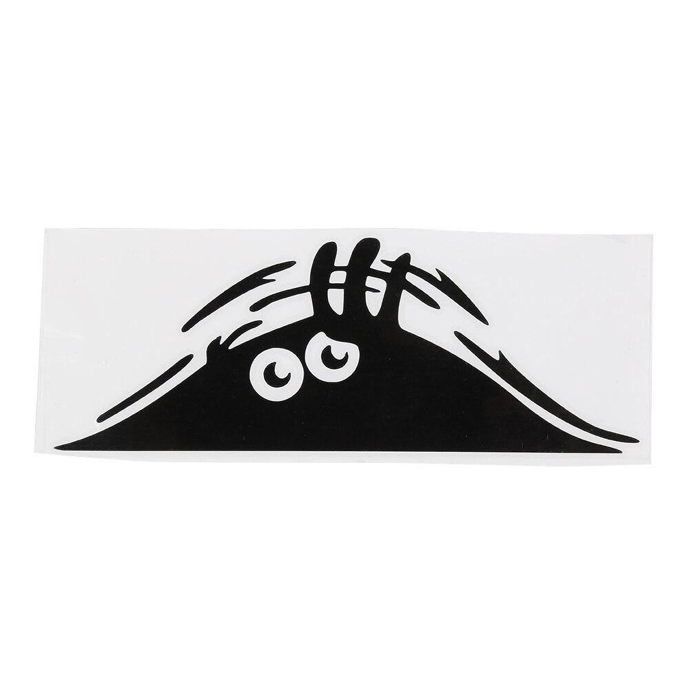 Автомобильные наклейки s Забавные 3D большие глаза автомобильные наклейки черные наклейки Peeking наклейки с монстрами для украшения автомобиля авто товары автомобильные аксессуары - Название цвета: Черный