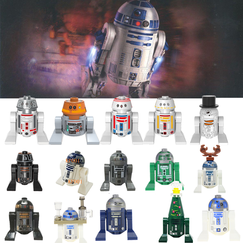 LegoingLys Action Figure Toy Star Wars Robot C3Po R2D2 C-3Po R2-D2 R4-Go Bb8 Luke Leia Figures Building Blocks Toys For Children