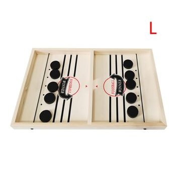 Head-to-Head Wooden Desktop Hockey Table Game for Kids and Adults, Portable Hock M5TC image