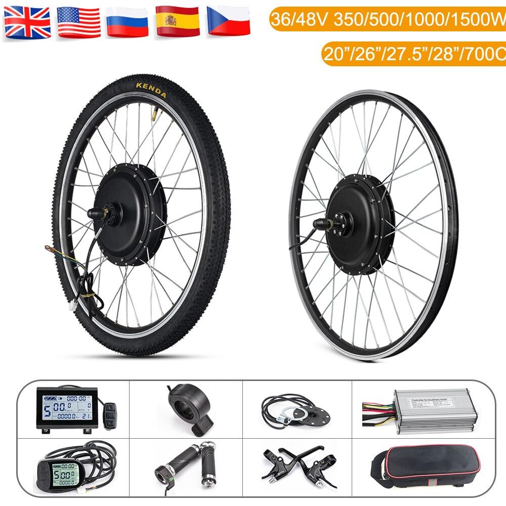 Roda do Motor do Cubo Dianteira do Motor Ebike com Pneu Kit de Conversão da Bicicleta Elétrica 48v 500w 1000 Roda Traseira Lcd3 26in 1500w Kit 36v