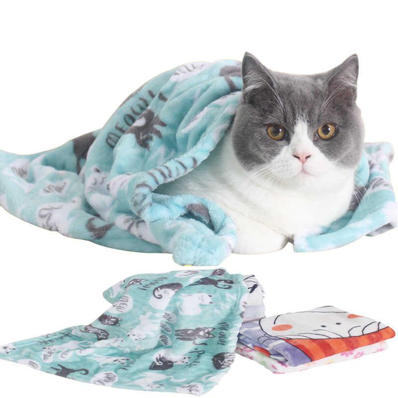 Одеяло для домашних животных, спальный коврик для кошек, коралловый флис, теплое одеяло, маленькие средние собаки, спящие Коты, зимние постельные Матрасы для собак, товары для домашних животных