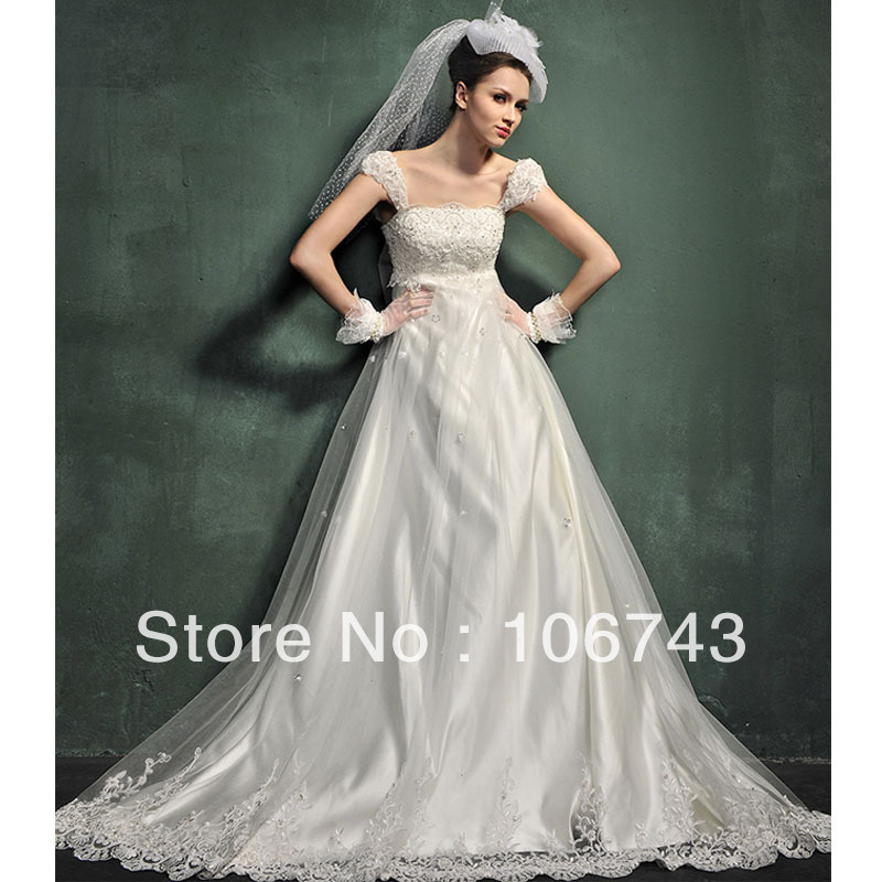 Free Shipping A-line 2018 Rhinestone Beaded Applique Cap Sleeves Chest Lace Beading Bridal Gown Mother Of The Bride Dresses