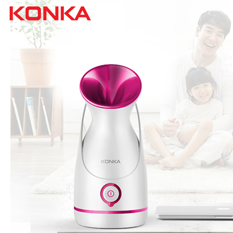 KONKA Electric Face Steamer With 55ml Water Tank White Thermal Spray Steaming Facial Hydrating Instrument Thermal Spray Beauty