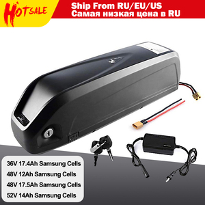 36V 17.4Ah 48V 12Ah 17.5Ah Lithiumlon E-Bicycle Battery With Charger for Electric Bicycle motor Inset Samsung Cells(China)