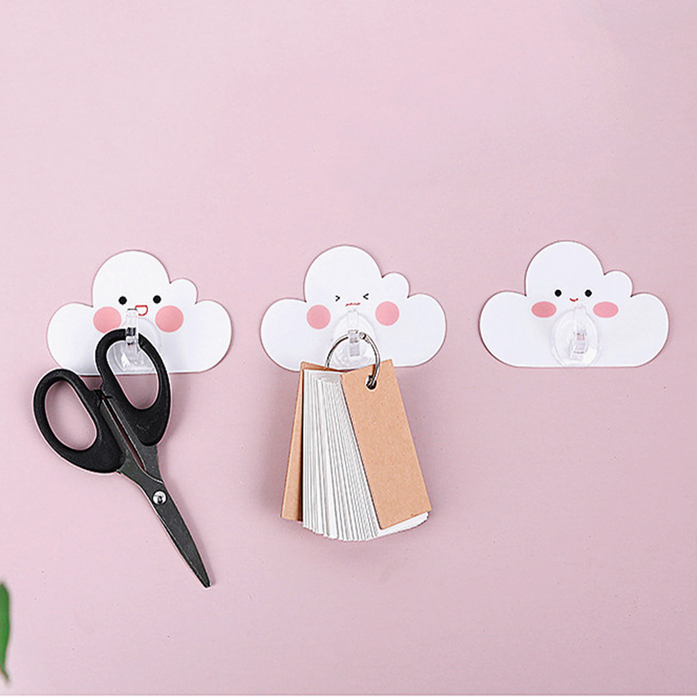 Door Hanger Cute Style Door Hook 4 Pcs/Set Seamless Adhesive Hook Strong Sticky Hook In The Shape Of Cloud DropShipping Kitchen