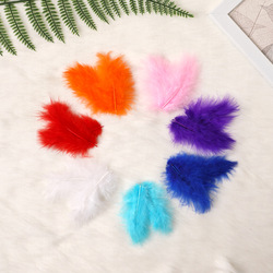 About 100 PCS Fluffy Feathers Wedding Dress DIY Jewelry Party Decoration Halloween Christmas Decorative Feathers Accessories