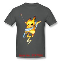 Customized Pikazeus Tops Zeus Tshirts For Men Funky Pikachu T-Shirt Pokemon T Shirt Casual Summer 100% Cotton Sweatshirts Kawaii(China)