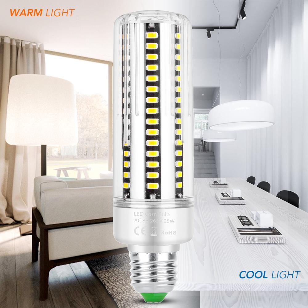 Smart IC Dimmable LED Bulb 25W E27 E14 Corn Light Bulb AC85-265V LED Lamp 5736 Chandelier Lighting Replace 20w 30w Halogen Lamp