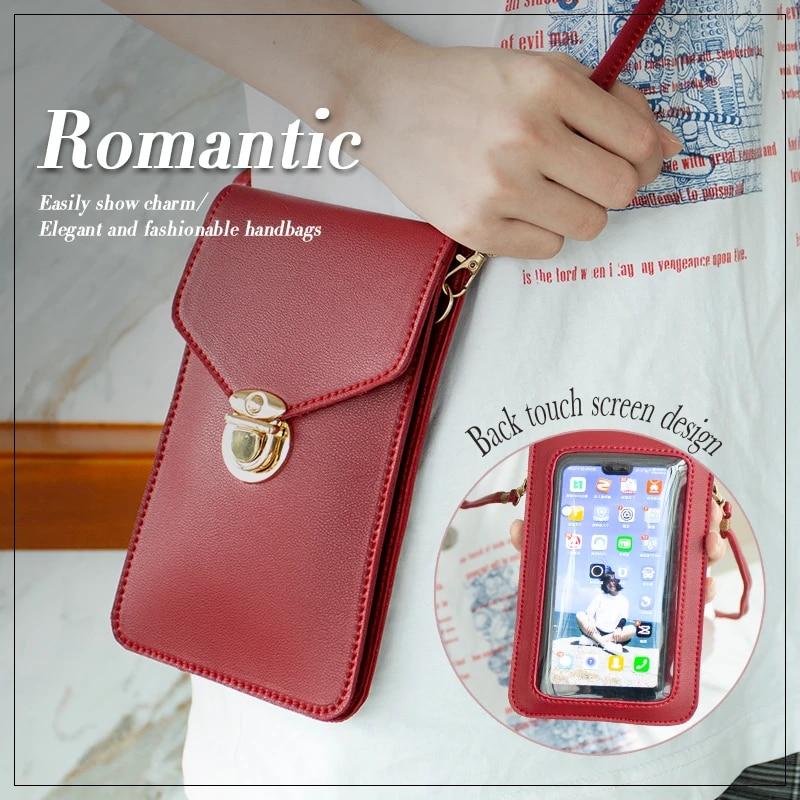 Touchable PU Leather Change Bag Cross Body Purse Mobile Phone Shoulder Bag UK