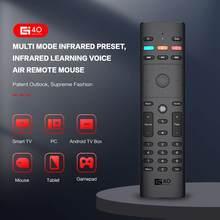 2,4G inalámbrico Air Mouse 34 llaves 6-Axis Gyro Control remoto por voz G40S electrónica accesorios para hogar inteligente para PC STB