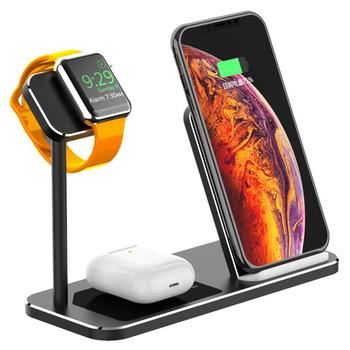3 in 1 15W Fast Wireless Charger Phone Holder Stand Dock Station For Airpods 3/2 Apple Watch 5/4/3/2/1 Iphone 11 Pro Max