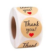 50pcs/wad Grazie Kraft Adesivi di Carta Etichette Adesive Rotonda di Cottura 25 millimetri decorazione di cerimonia nuziale del partito della decorazione Adesivi