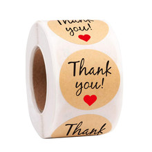 Jadime 50 pçs obrigado kraft adesivos de papel redondo etiquetas adesivas cozimento 25mm decoração de casamento decoração de festa adesivos
