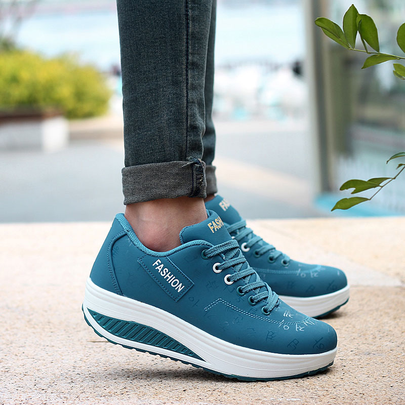 2020 Spring New Women Platform Rocking Shoes Casual Fashionable Womens Chunky Designer Sneakers Zapatillas Con Plataforma Mujer 4