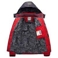 Winter Man Women Plus Velvet Warm Jacket Water Proof Windproof Fishing Skiing Softshell Hooded Outdoor Camping Hiking Warm Coats