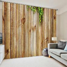 Kitchen Curtains Drapes Decorative Wooden Door-Windows Bedroom Living-Room Print Clear
