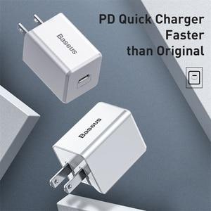 "Image 2 - Baseus ארה""ב תקע USB מטען 18W סוג C פ""ד מהיר מטען נייד מתאם נסיעות מטען קיר טעינה מהירה עבור סמסונג עבור Huawei"