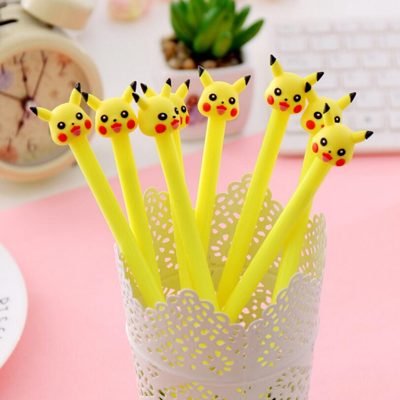 4PCS/Set Kawaii Animal Gel Pen For Student Writing Tools Pokemon Ball Pen Office School Supplies Cute Stationery Gifts 0.38mm