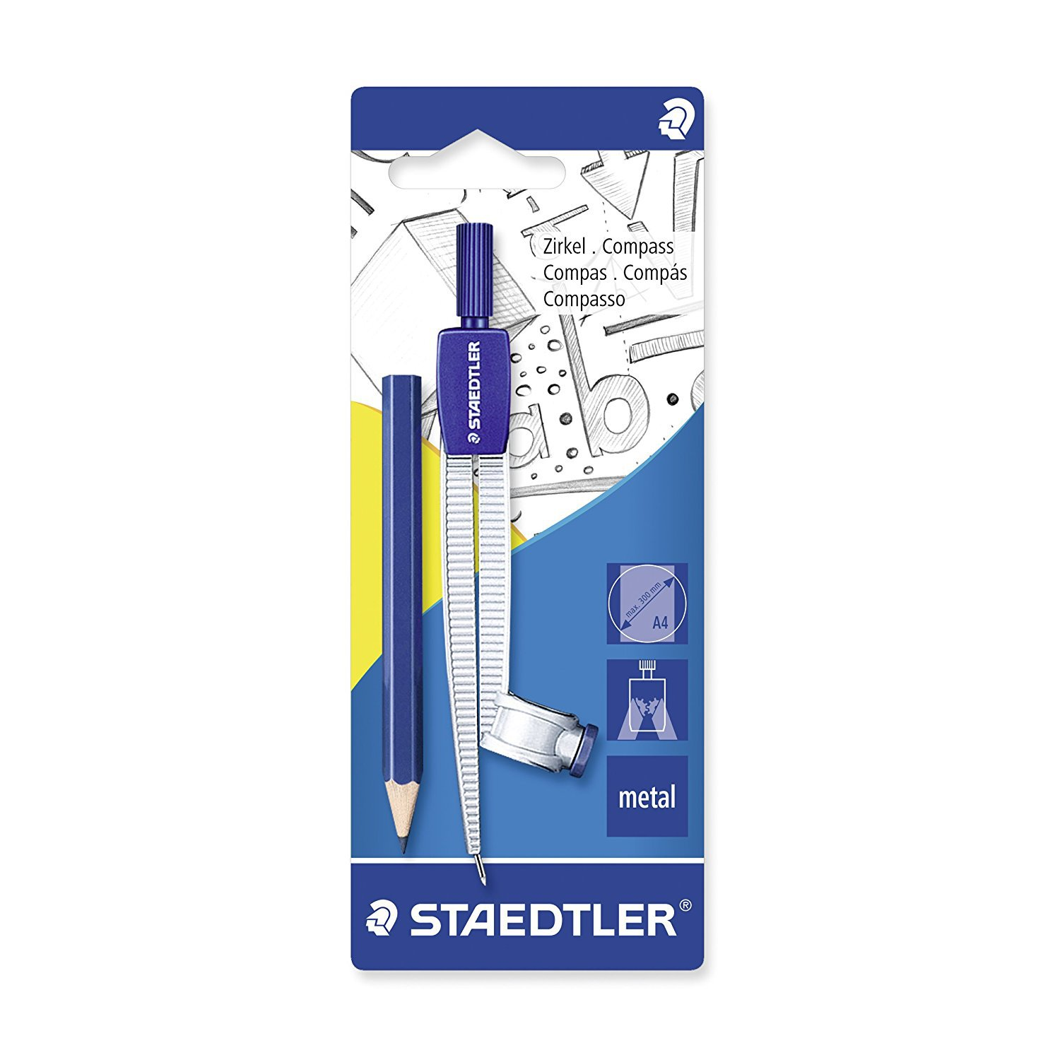 STAEDTLER Staedtler 550 55BK For Student Mapping Compasses Attached Ruler (Hanging Card)
