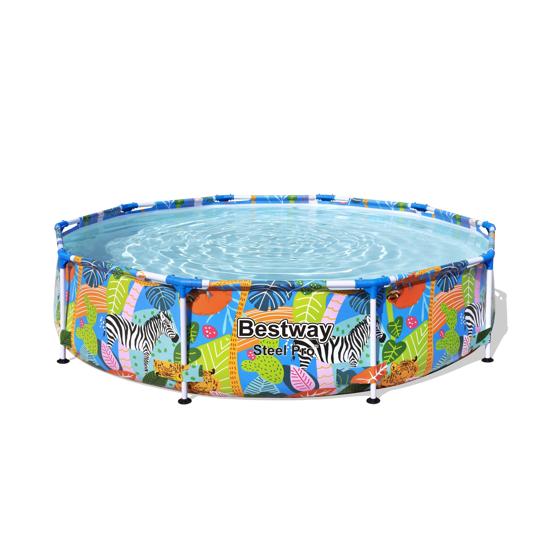 Scaffold Round Basin Multicolour, Size 305 х66см, Bestway, Pool For Garden, Summer, Leisure, Outdoor, Bright, Item No. 56985