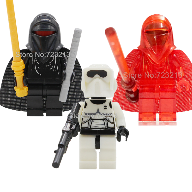 Starwars Single Sale Red Guard Scout Troopers Compatible With Figure Building Blocks Set Models Bricks Toys Legoing