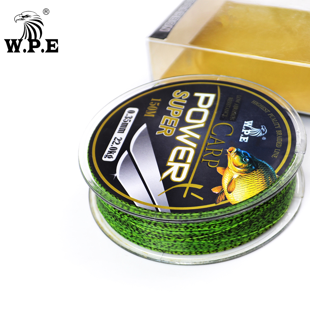 W.P.E Fishing-Line Fluorocarbon-Coating Carp Super-Power Brand Fast 10-41KG Double-Color