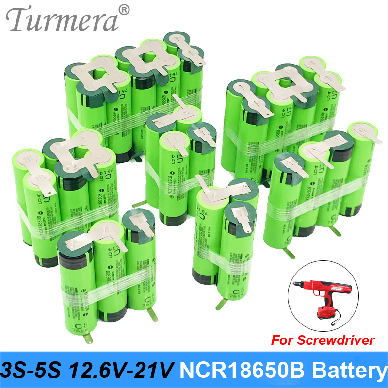 18650 Battery 3400mAh 6800mAh Ncr18650b 12.6v 16.8v 21v Battery For Screwdriver Shurik Shura Battery 3s 4s 5s Soldering