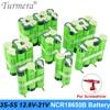 18650 batterie 3400mAh 6800mAh ncr18650b 12.6v 16.8v 21v batterie pour tournevis shurik shura batterie 3s 4s 5s soudure