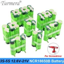 18650 Battery 3400mAh 6800mAh ncr18650b 12.6v 16.8v 21v battery for screwdriver shurik shura battery 3s 4s 5s Soldering