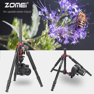 Image 1 - ZOMEI נסיעות מצלמה חצובה M8 אלומיניום חדרגל מקצועי חצובה גמיש עם טלפון מחזיק עבור שידור חי DSLR Canon Sony