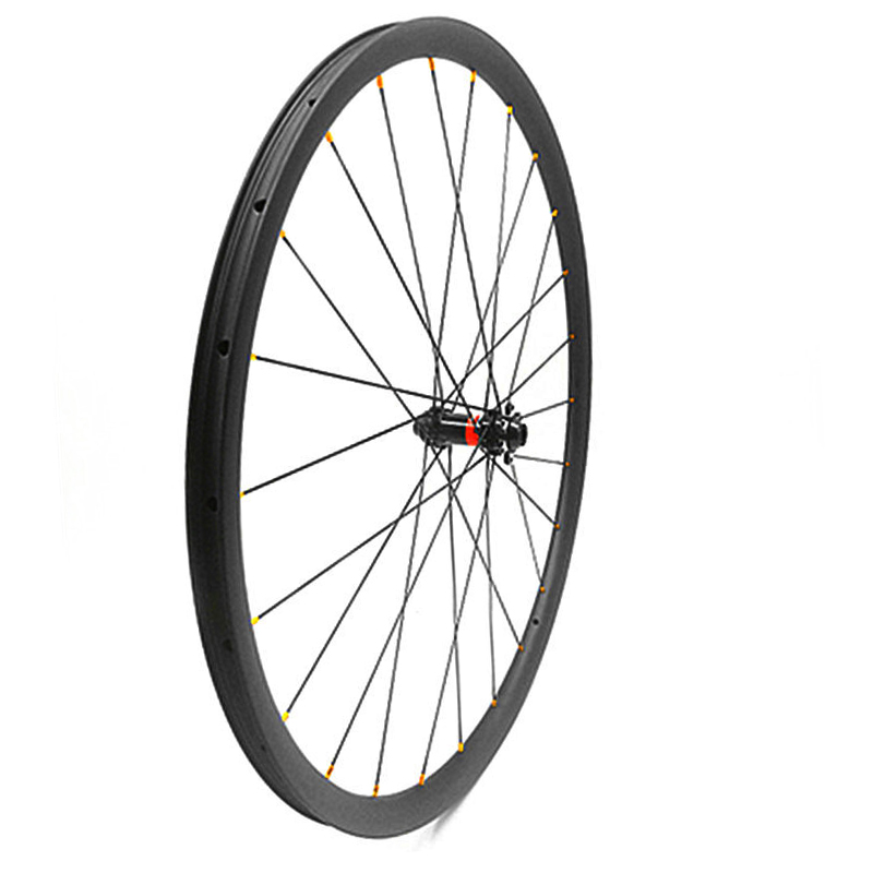 700c carbon disc road wheel 25x25mm Asymmetry tubeless disc road bike front wheel D411SB 100x9/12/15mm thru axle bicycle wheel
