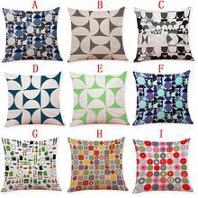 Line Pattern Pillowcase Linen Comfortably Pillowcase Thick Linen Pillowcase Cover Cushion swans heart pattern decorative linen pillowcase