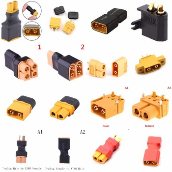 XT60 XT-60 Male Female Parallel Adapter Converter Connector Cable Lipo Battery Harness Plug Wiring Wholesale image