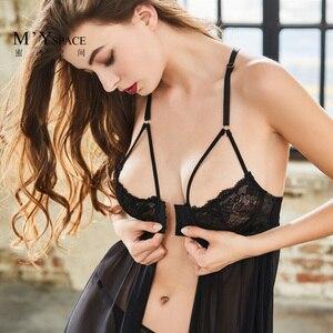 Image 1 - Sexy Womens Summer Nightdress Sleepwear Nightwear Lace Black Night Dress Home Dress Nightgown Lingerie Nightie Erotic