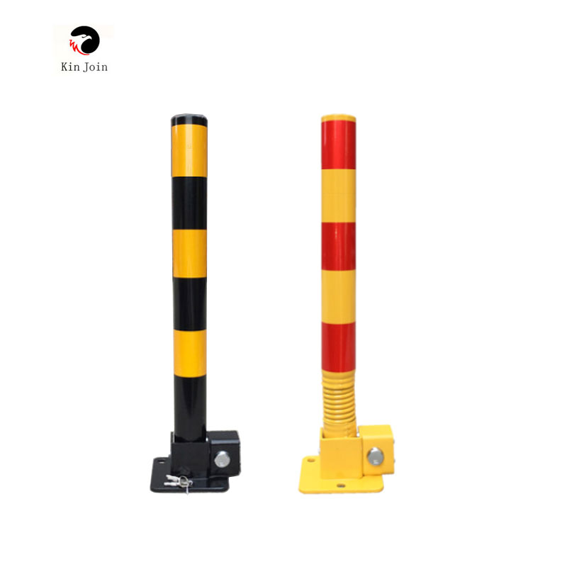 KinJoin Parking Lock Pillar With Spring And Lock/ Car Barrier Lock Private Territory Maintenance Protect Parking