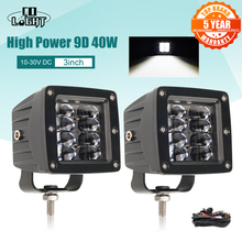 Car-Led-Light-Bar Tractors-Boat Fog-Lamp Truck Flood Led ATV 3inch 24V 4x4 Beams SUV