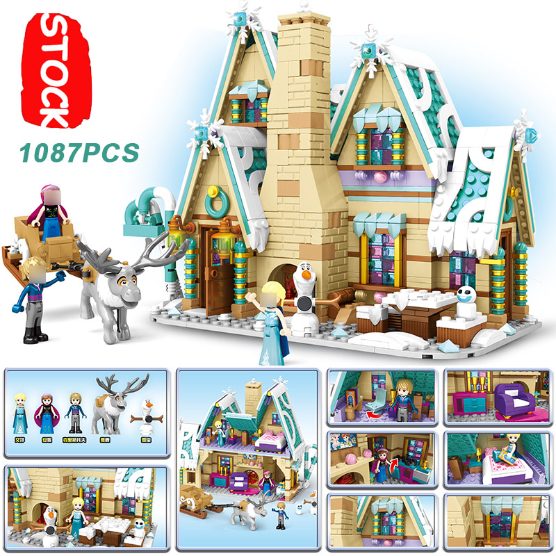 SY6580 Elsa Princess Castle Anna Olaf Girl Ice Snow Set Christmas Lepining Blocks Toys Compatible Frozeninglys 2 Friends 41148 image