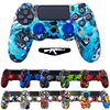 Anti Slip Multicolor Silicone Cover Case with 2 Joystick Caps For Sony PS4 Pro Slim Game Controller