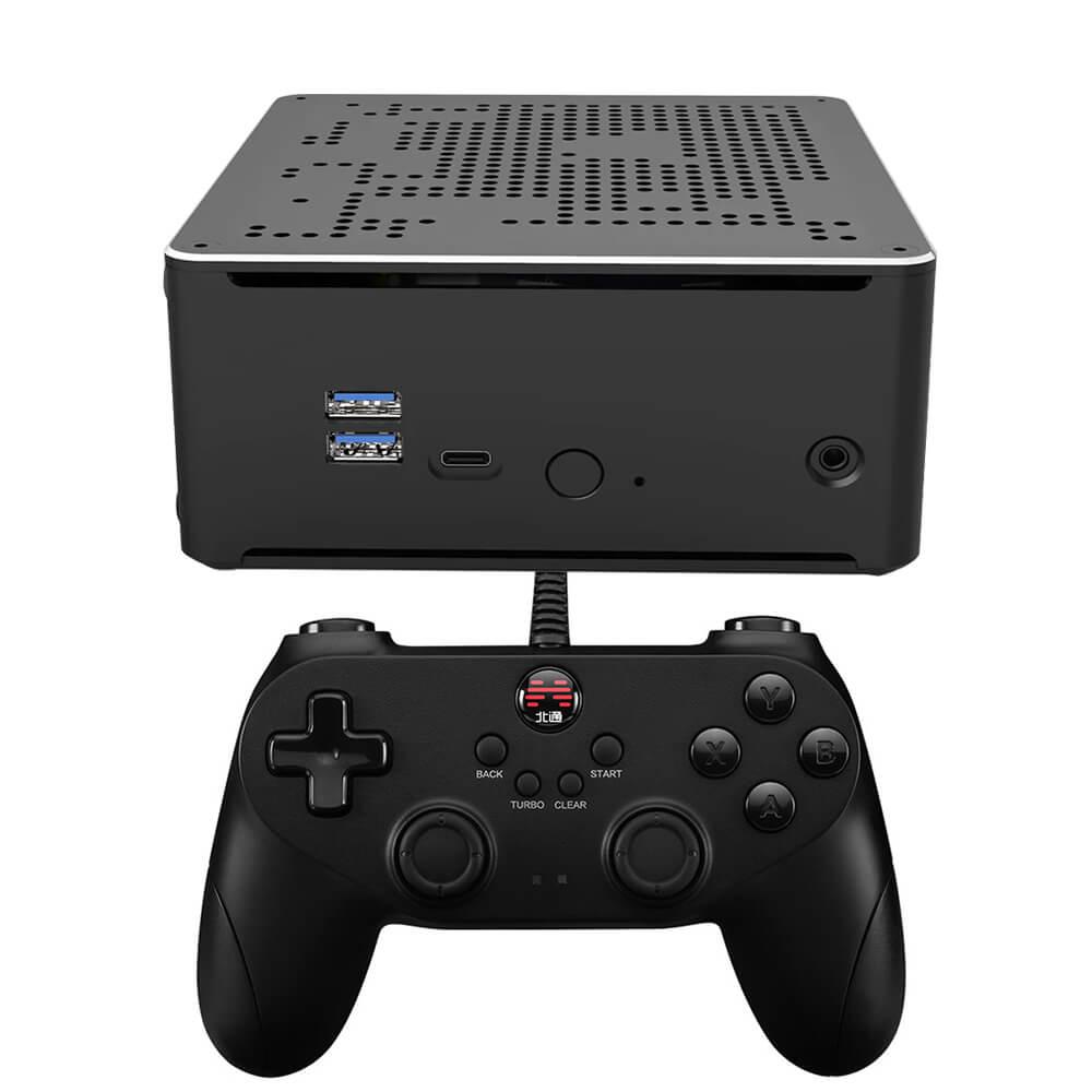 Супер консоль Kinhank X PC Box Ретро консоль для видеоигр и мини-ПК со встроенными 62000 играми поддержка PS1/PS2/DC/N64/Wii 80 + Эмулятор