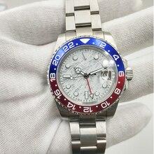GMT 40mm Meteorite dial Sapphire Glass Ceramic Bezel Date Luminous Automatic Movement men's Watch 23 цена и фото