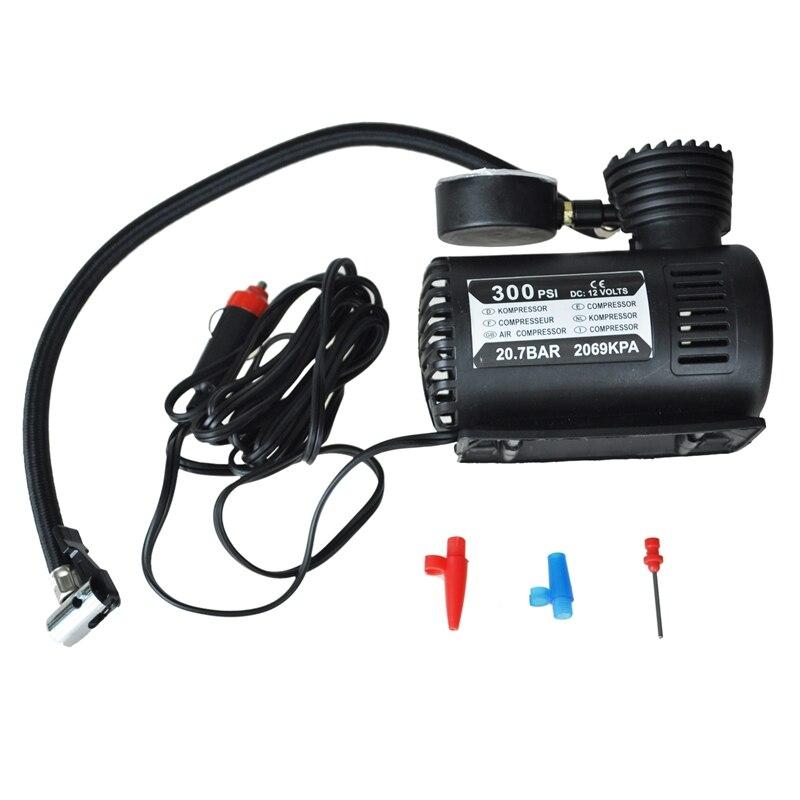12v carro auto bomba eletrica compressor de ar portatil pneu inflator 300ps