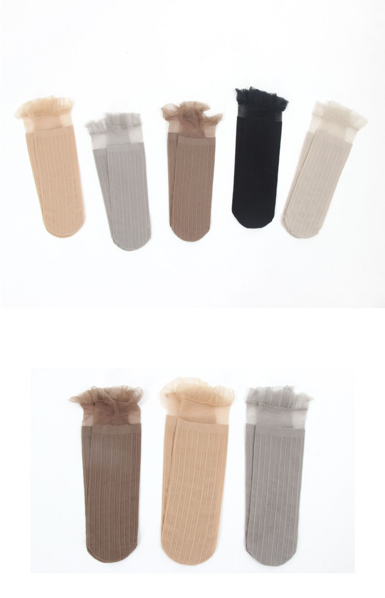 H119398f5c1dc4e6eb21ff962d0709857O - Transparent Lace Thin Ladies Socks Sweet Velvet Sexy Japanese Summer Women Long Socks Female Dress Hosiery New Fashion Striped