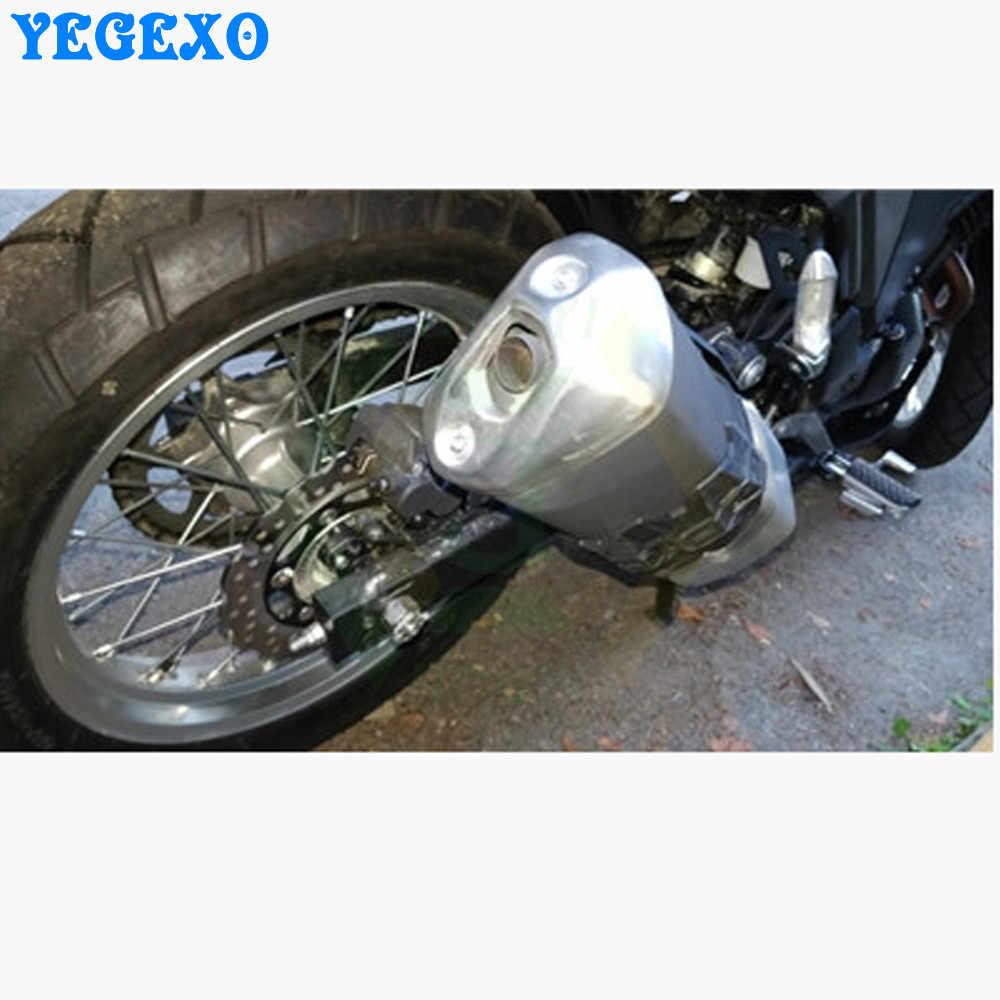 Universal protetor de escape da motocicleta capa para kawasaki ninja 400 vulcan 500 zx10r 2016 zephyr 750 ninja 300 er6n z1000 2008