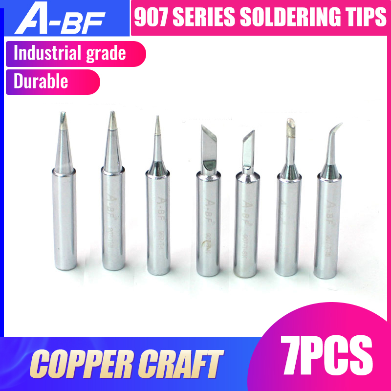 A-BF 907 Series Soldering Iron Tip Level C Copper Craft For Soldering Rework Repair Tools 7 Models