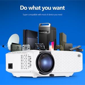 AUN мини-проектор | 3D дома Кино портативный видеопроектор | 4K Full HD1920x1080P видео проектор через HDMI VGA | Совместим с ТВ коробка волшебную палочку