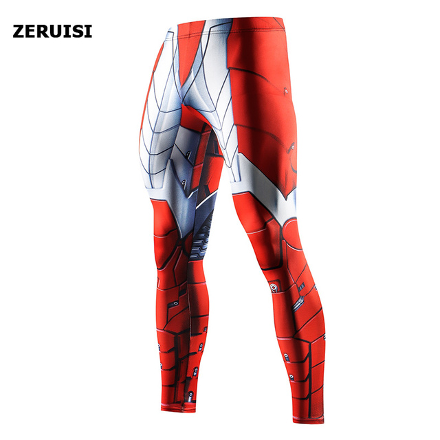 Superhero High Quality Men Skinny Pants 3D Pattern Superman Iron Man Pants Bodybuilding Jogger Fitness Skinny Leggings Trousers 5