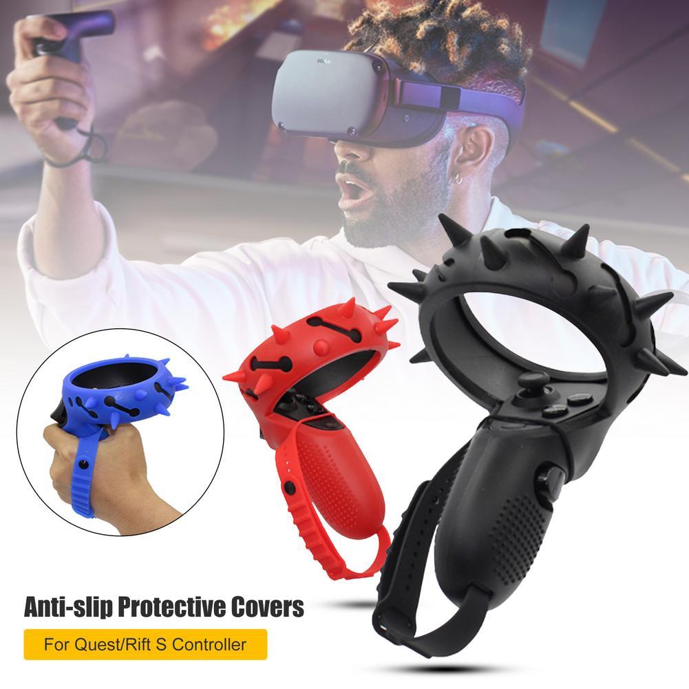 Capa protetora para oculus quest/rift s vr controlador lidar com aperto capa silicone protetor completo luva vr guarda acessórios