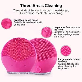 Foreoing-limpiador Facial eléctrico Luna Mini 2, limpiador de pincel de silicona, vibración...